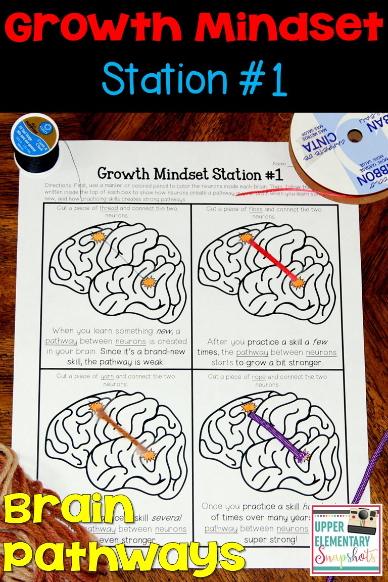 worksheet Growth Mindset Worksheet upper elementary snapshots foster growth mindsets with free 1 of 4 mindset learning centers students learn how pathways are created between