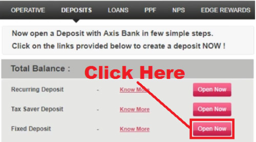 how to open fd in axis bank online