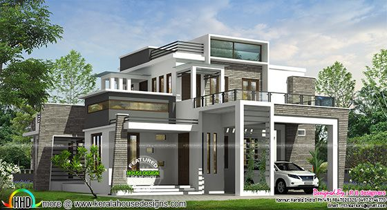 4 BHK modern box type house