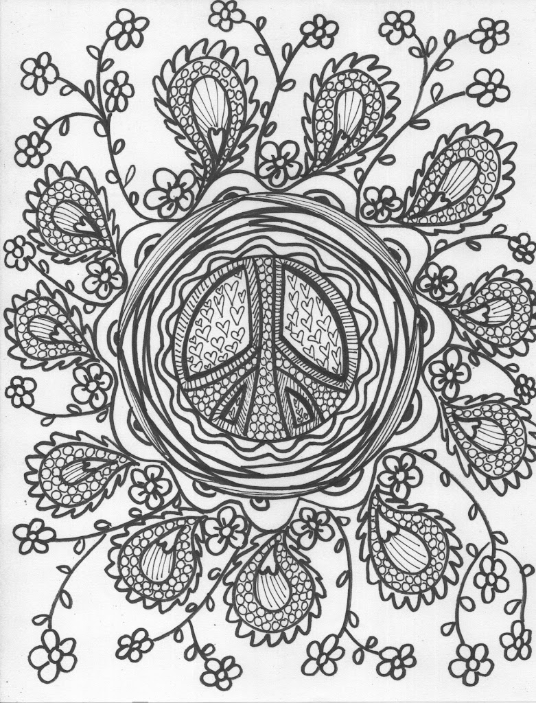 Top 10 Peace And Love Coloring Pages Image
