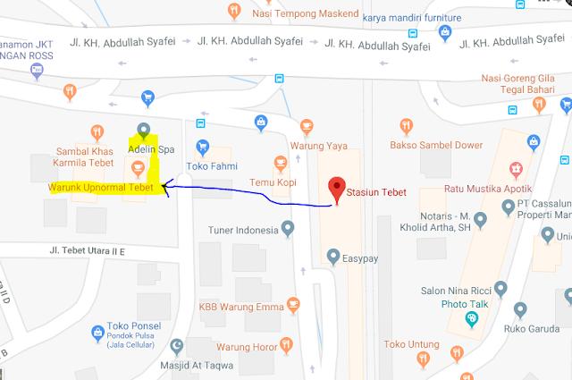 Titik Jemput Ojek Online Gojek-Grab di Stasiun Tebet