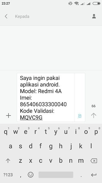 Kirim SMS Validasi APK RR Android Center