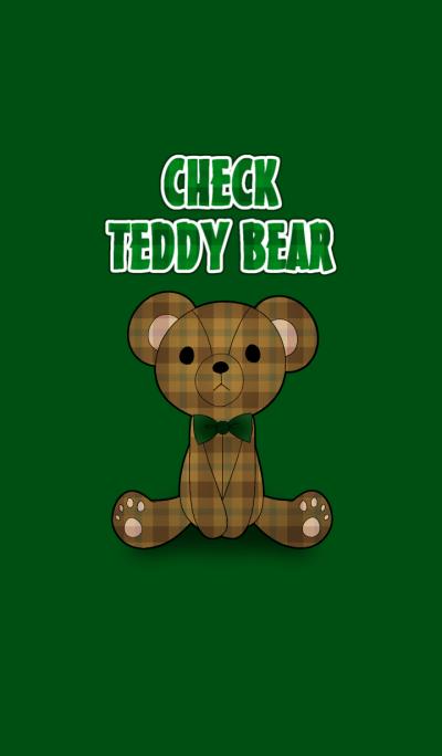 CHECK TEDDY BEAR[Green]