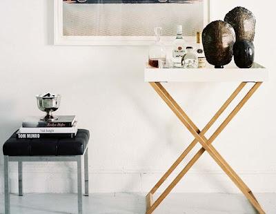 Bar cart in folding style via belle vivir blog