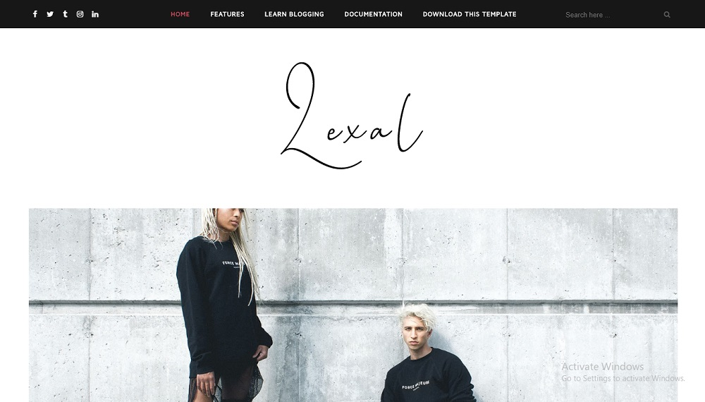 Lexel Responsive Blogger Theme