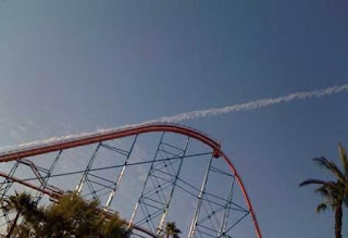 roller coaster goes to space