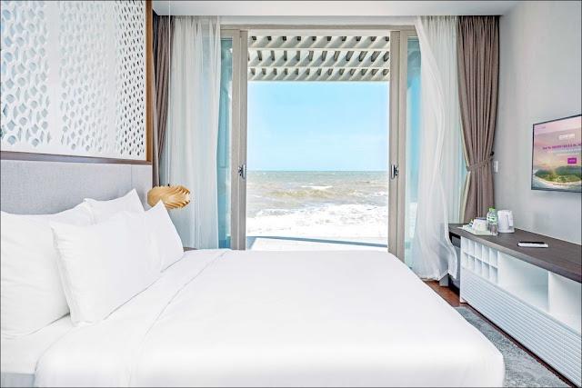 Phòng ngủ biệt thự Oceanami Villas & Beach