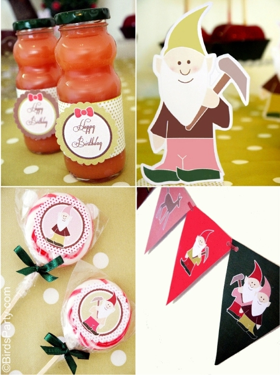Snow White Inspired Birthday Party Ideas & Printables - BirdsParty.com