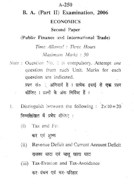 s y b a economics paper iii indian History-ii, culture in indian sub-continents: 4 tamil  economics (macroeconomics) (paper-10) 6  paper xvi(b) 3.