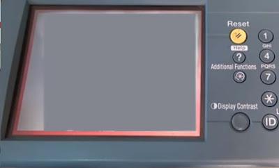 LCD  blank putih fotocopy ir5020