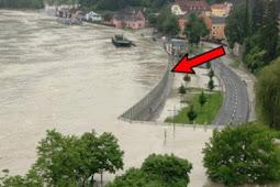 Cara kerja dinding penahan banjir di Austria ini sukses bikin takjub netizenn seluruh dunia