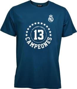 レアル・マドリード 2017-18 Tシャツ-UEFAチャンピオンズリーグ優勝記念