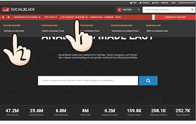 Cara Melihat Real - Time Subcribe You Tube Channel Live