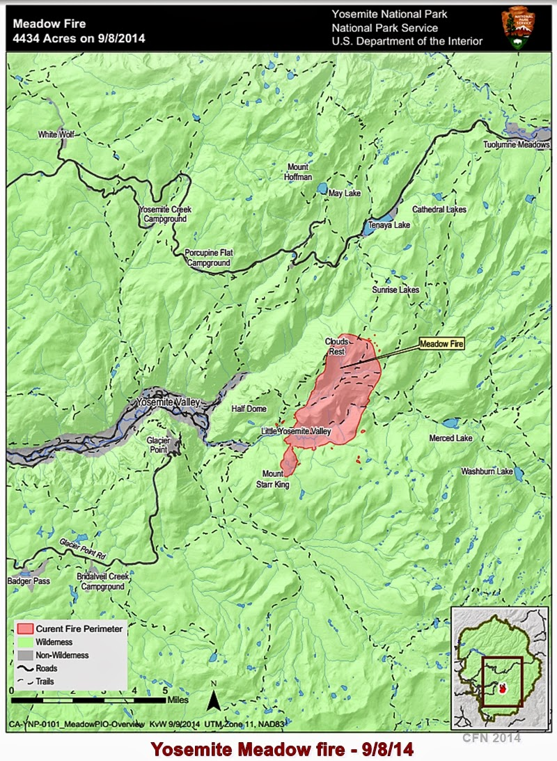 Yosemite Meadow Fire Map