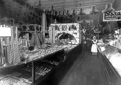 Interior of Woolworth's store, Brookline Village, 1914