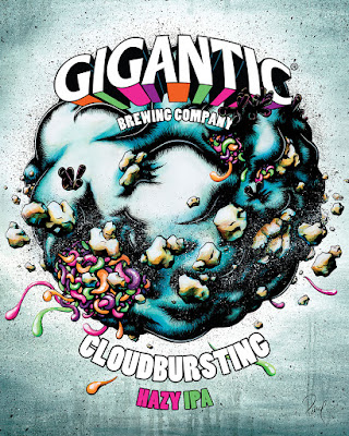 Gigantic Brewing Cloudbursting Hazy IPA fine art poster print
