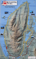 Mapa de Vatnsnes, islandia