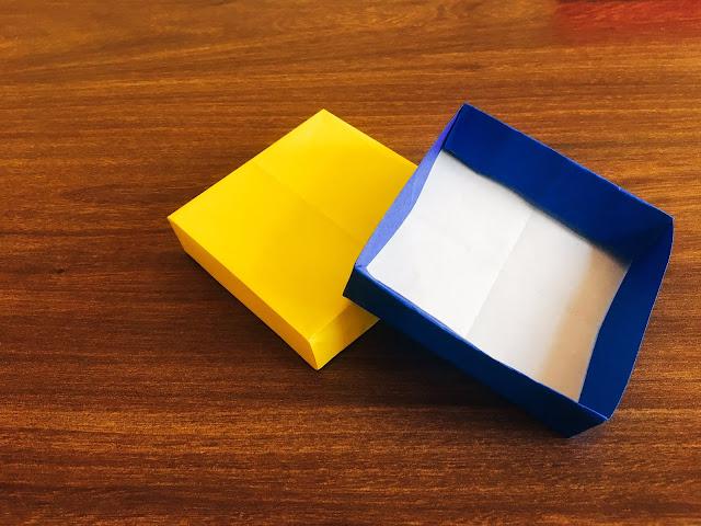 Cách gấp xếp hộp giấy vuông