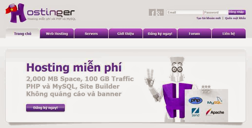 Hướng dẫn đăng ký Hosting miễn phí tại Hostinger