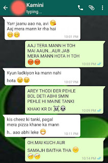 Whatsapp Funny Chat of GF BF in Hindi