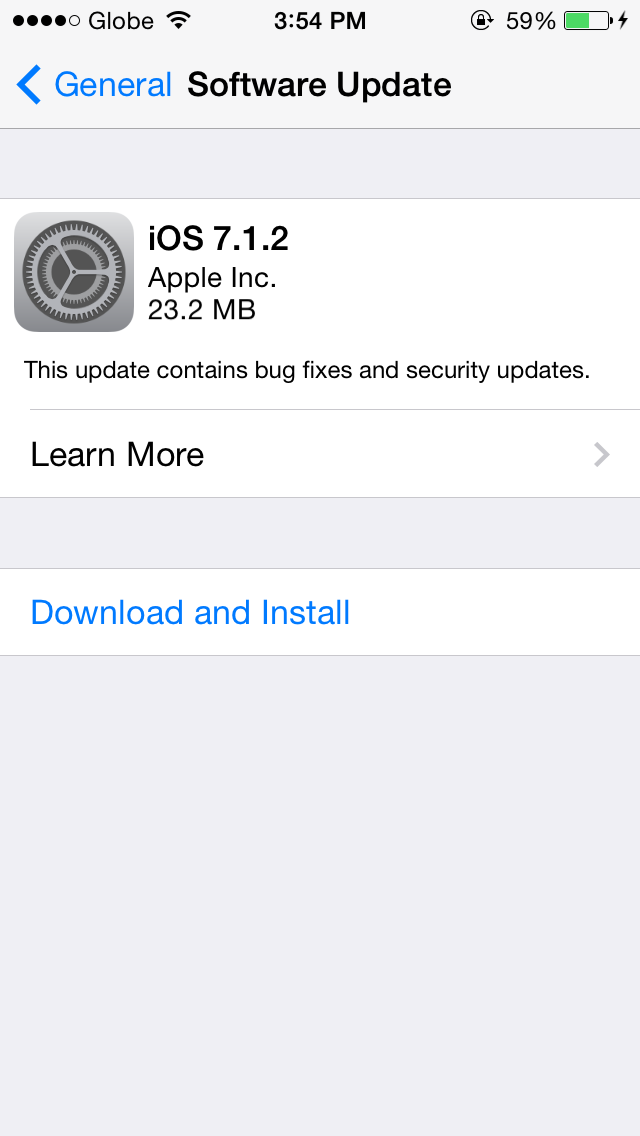 iOS 7.1.2 - an update to fix several bugs on 7.1.1 and improve iBeaconconnectivity.