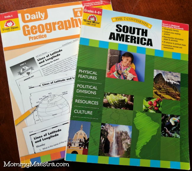 Evan-Moor Geography for K - 6th Grade