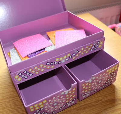 BEFORE Craft Time Mosaics: My Pretty Jewellery Box by Brainstorm - preschooler toy review