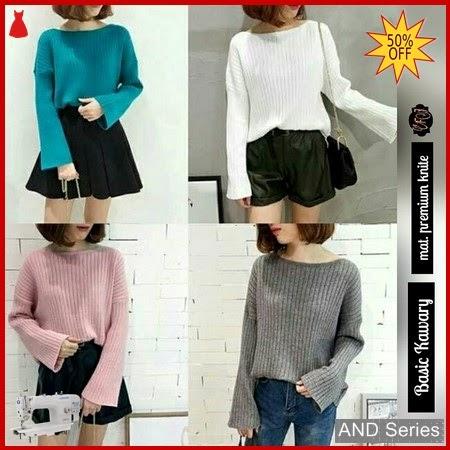 AND191 Baju Atasan Wanita Blouse Basic Kawary BMGShop
