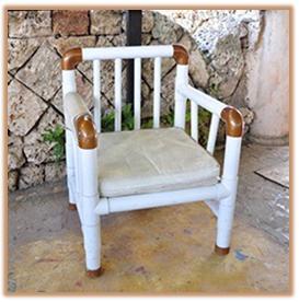 A mi manera hacer una silla con tubos de pvc - Como hacer fundas para asientos de sillas ...