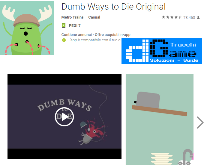 Trucchi Dumb Ways to Die  Mod Apk Android 1.6