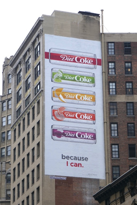 Diet Coke Because I can billboard NYC