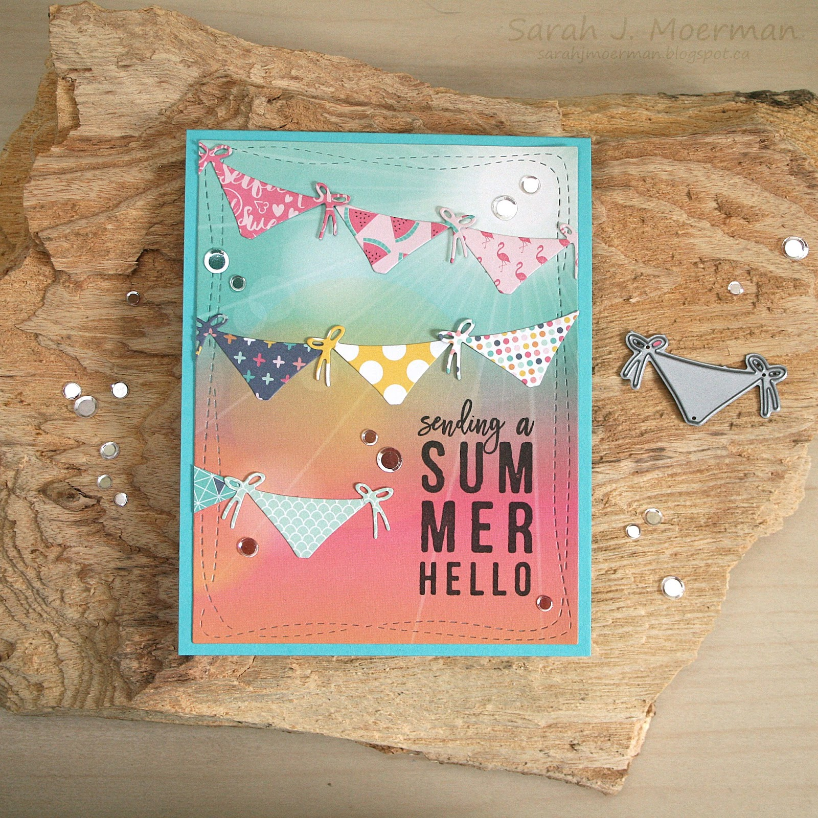 I Decided To Use The Bikini Bottoms From Simonu0027s Bikini Dies To Create  Banners For Todayu0027s Card And I Love How It Turned Out! The Echo Park Summer  Dreams ...