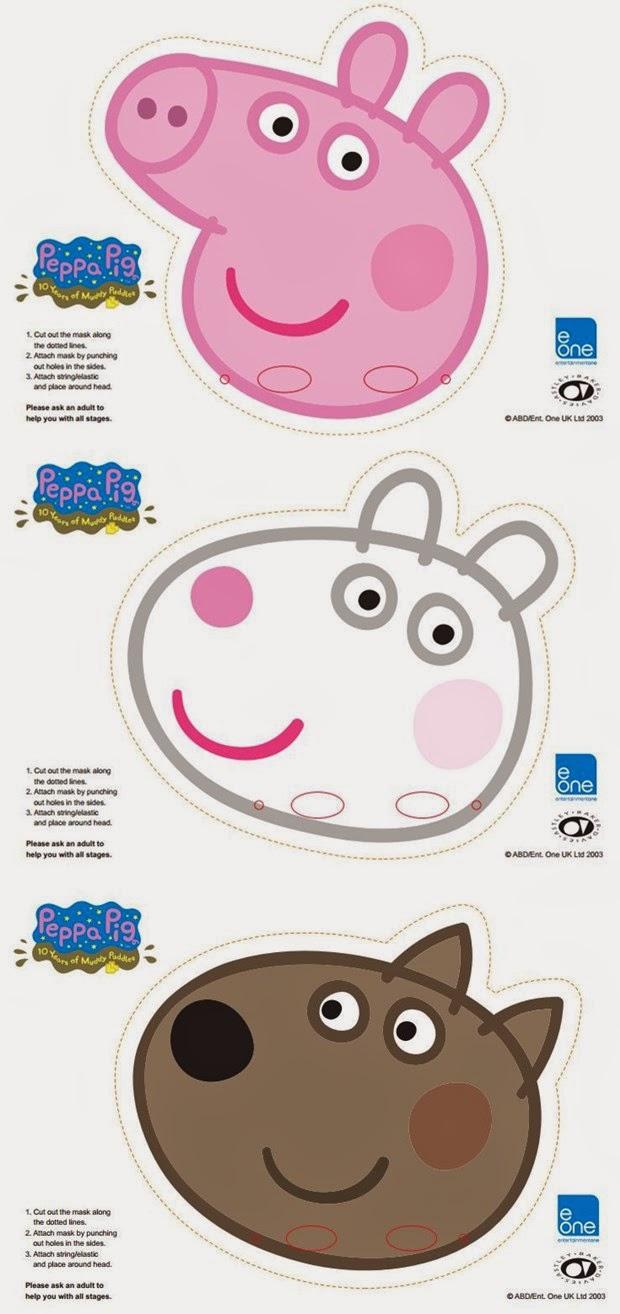 peppa pig cake template free - peppa pig free printable party mini kit oh my fiesta