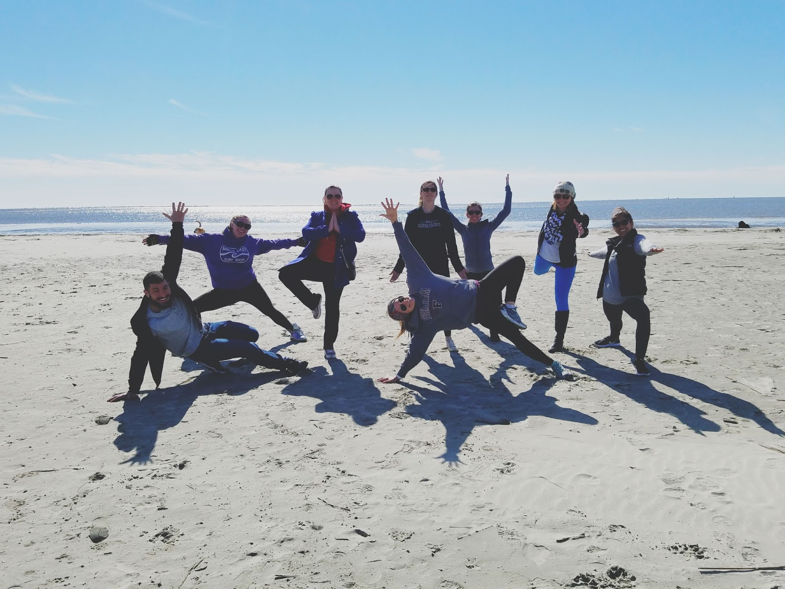 yoga on Sullivan's Island in Charleston, South Carolina