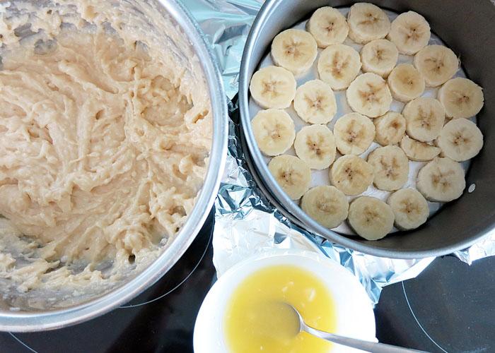 Upsidedown Bananen Kuchen