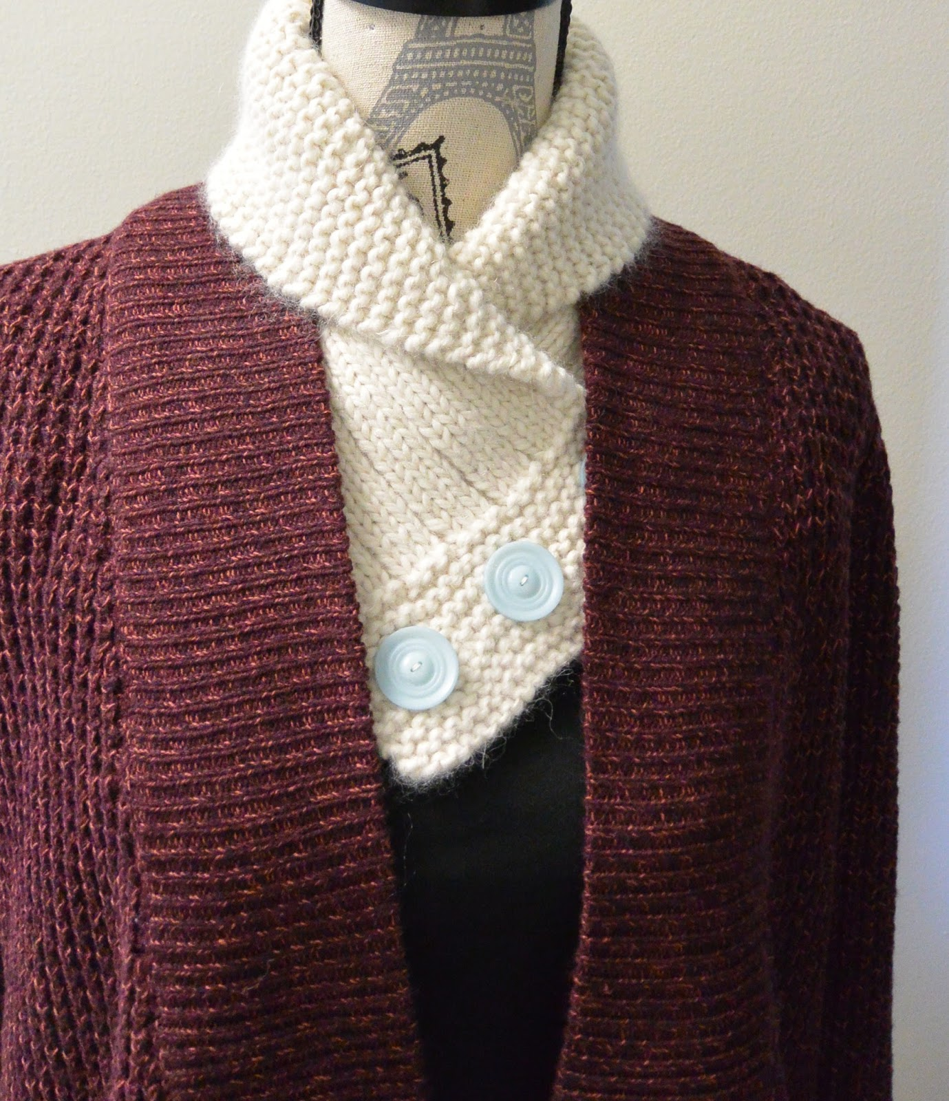 Arranged Words: Fall, Shawl Collared Cowl