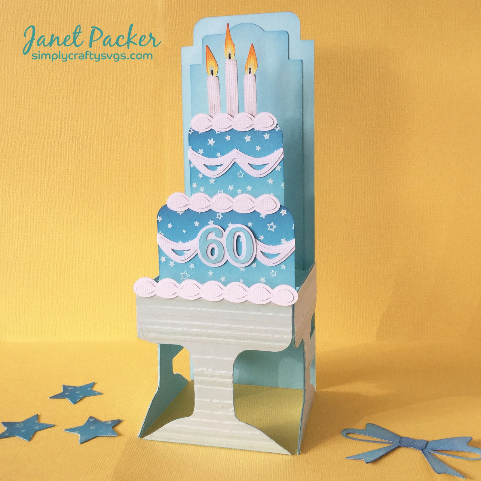 Crafting Quine: Tiered Ombre Cake Box Card