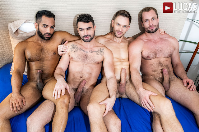 LucasEntertainment - STAS LANDON AND ANDREY VIC BREED IAN GREENE AND SERGIO