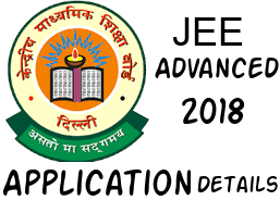 Jee Advanced 2018 Application Details