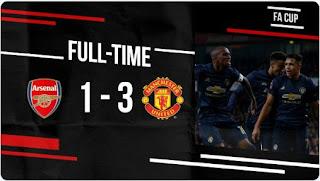 Arsenal vs Manchester United 1 - 3 Video Gol  Highlights Piala FA