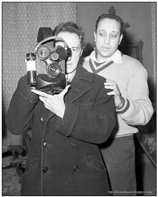 Jean Cocteau & Jean-Pierre Melville at work on 'Les Enfants Terribles' (1950)