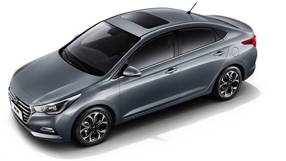 New Hyundai Verna 2017 top view
