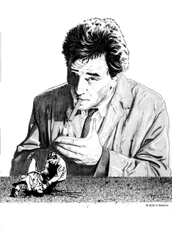 My pencil drawing of Peter Falk as Columbo