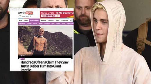 Justin Bieber es visto 'cambiando de forma' por cientos de fans