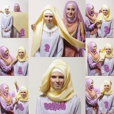 Tutorial Hijab Pesta Simpel ala Dian Pelangi cocok untuk Kebaya Wisuda