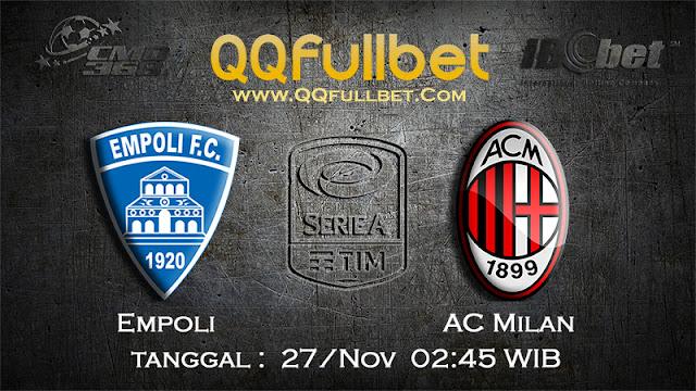 PREDIKSIBOLA - Prediksi Taruhan Bola Empoli Vs AC Milan 27 November 2016 (SERIE A Italia)