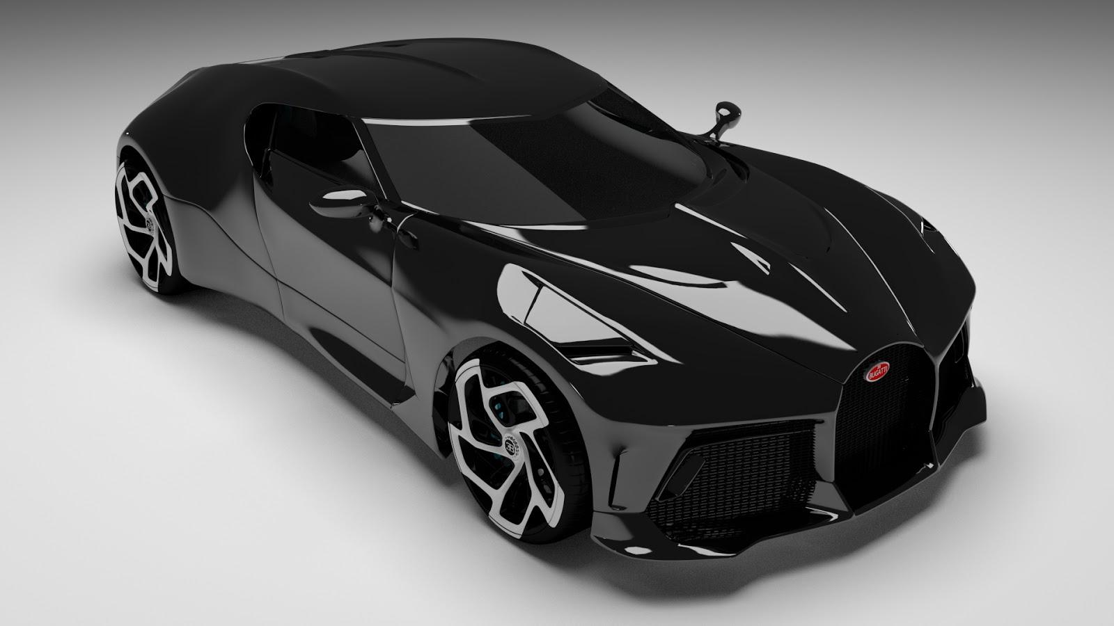 Free 3D Bugatti La Voiture Noire .blend file