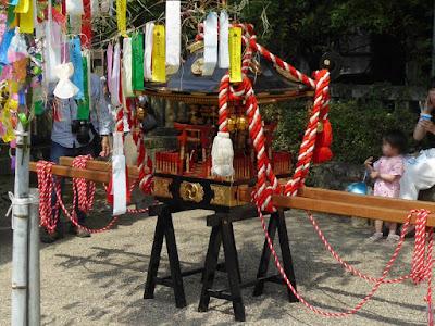 機物神社の七夕祭り 神輿