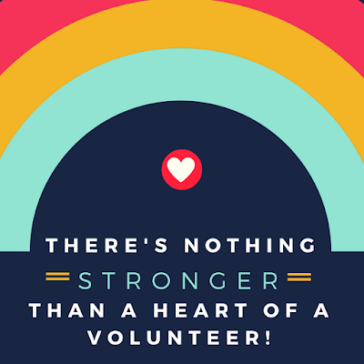 there's nothing stronger than a heart of a volunteer appreciation