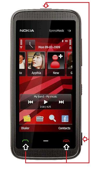 Nokia 5130c 2 security code